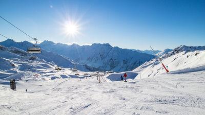 Sesselbahn im Skigebiet Ischgl