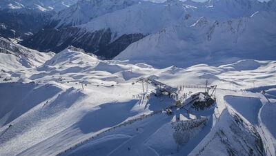 Blick über das Skigebiet Ischgl