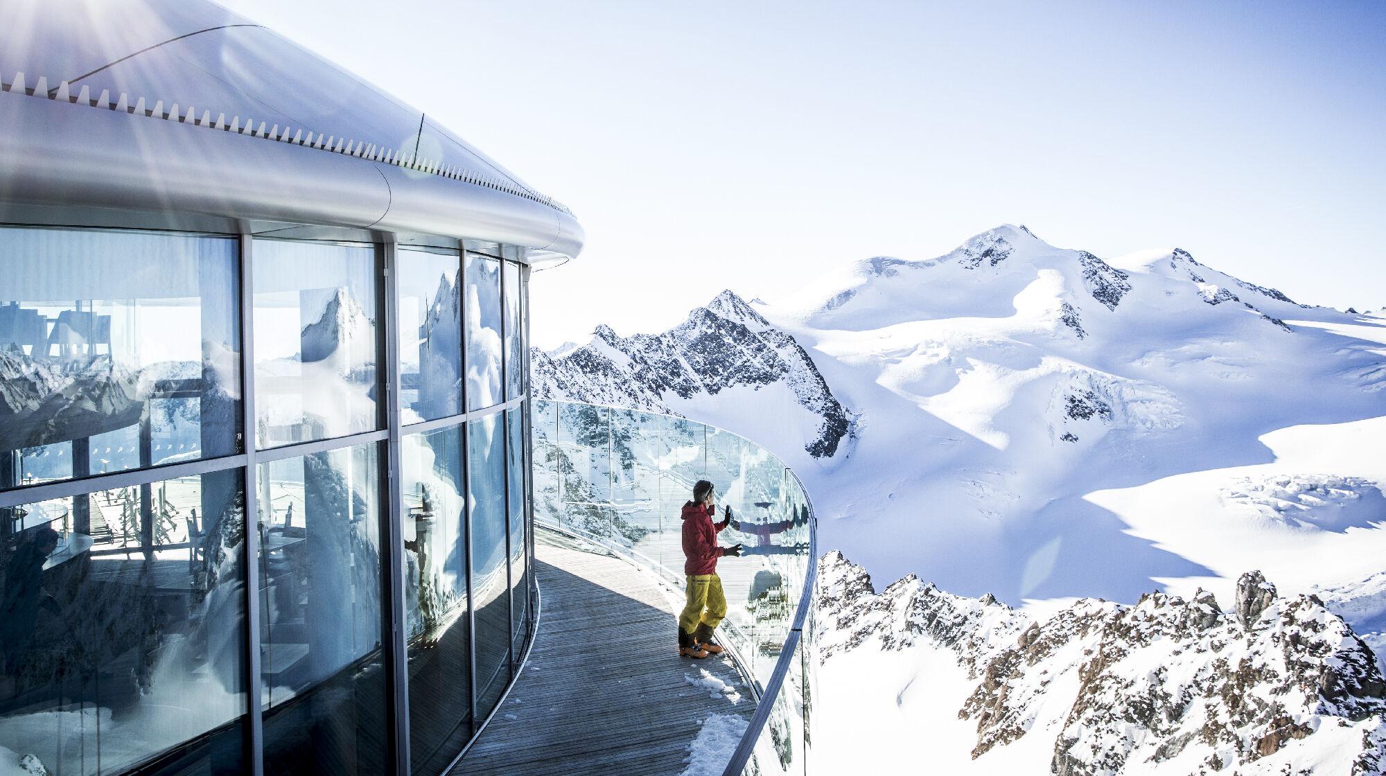 Aussicht genießen am Pitztaler Gletscher