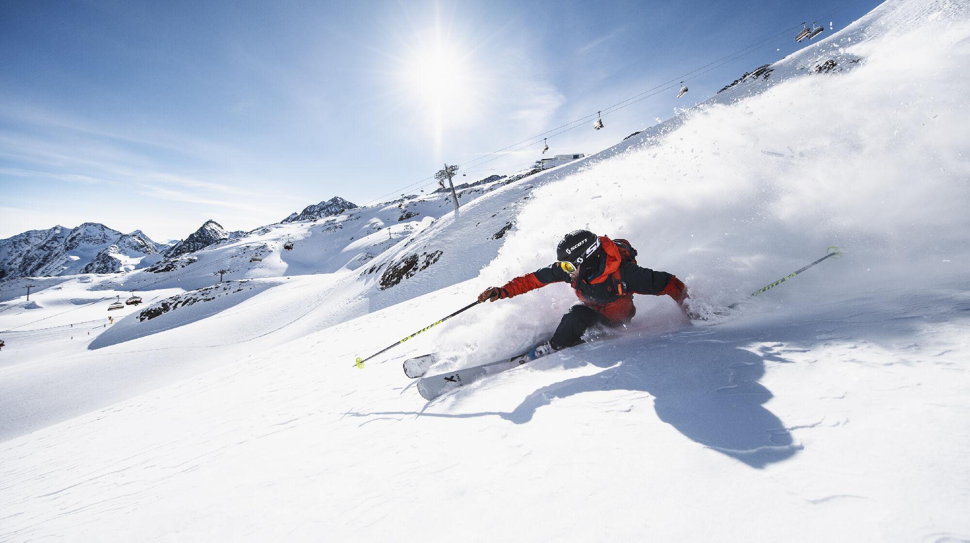 Skifahrer in Tirol