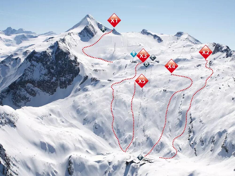 Freeride-Routen am Kitzsteinhorn