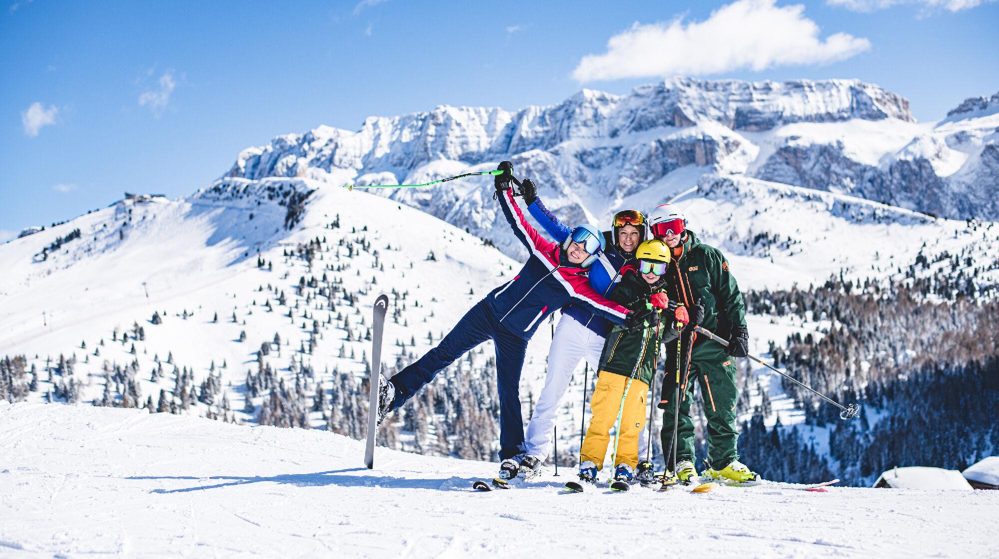 Skispaß in Val Gardena