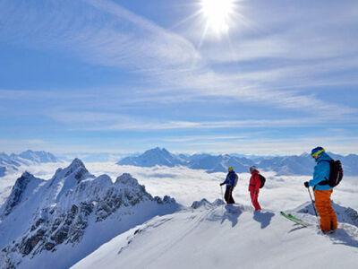 Ausblick in St. Anton am Arlberg