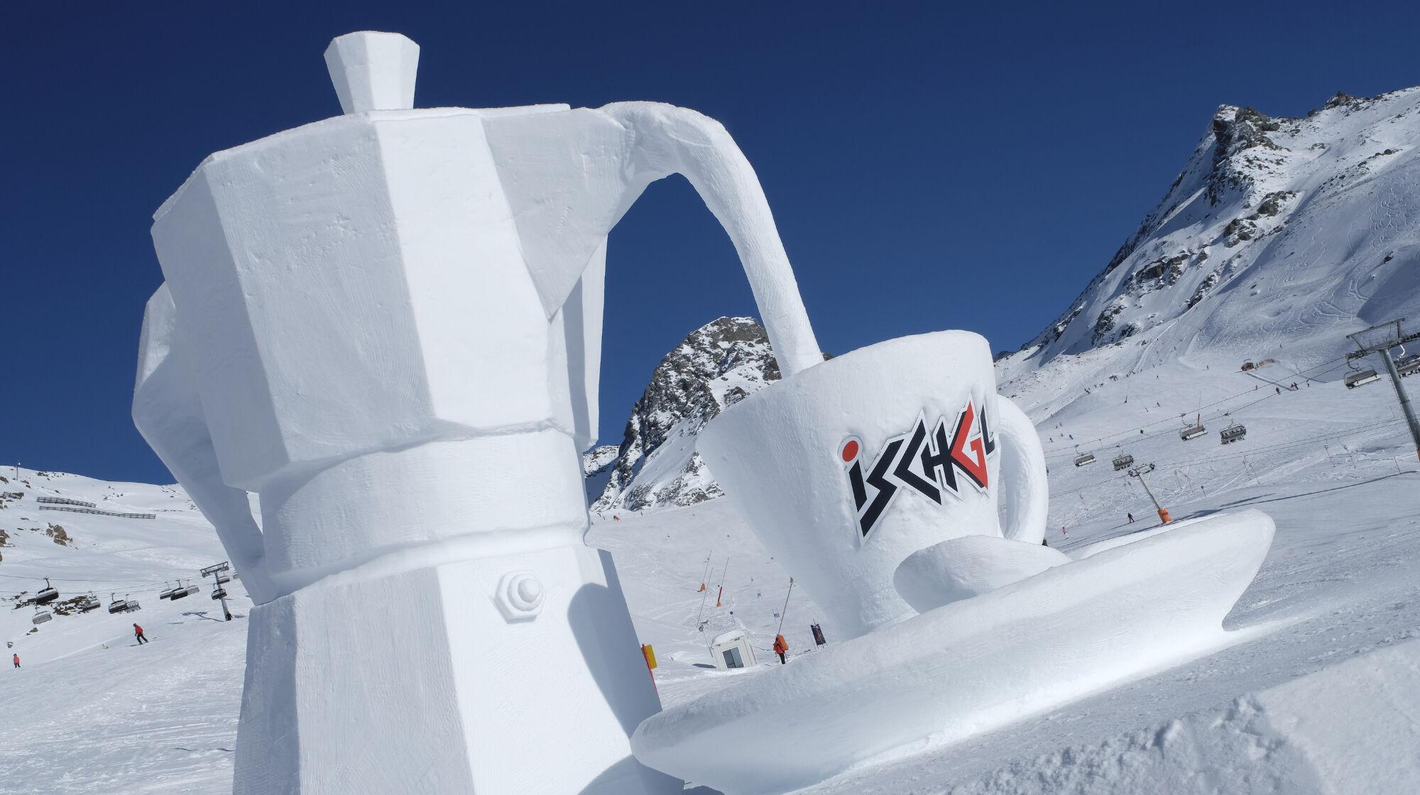 Schneeskulptur in Ischgl