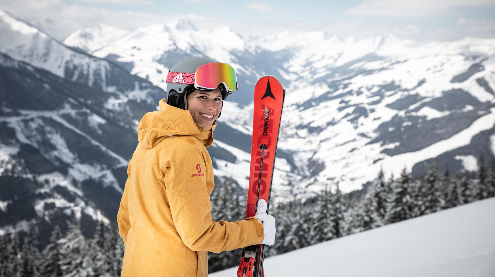 Skifahrer im Skicircus