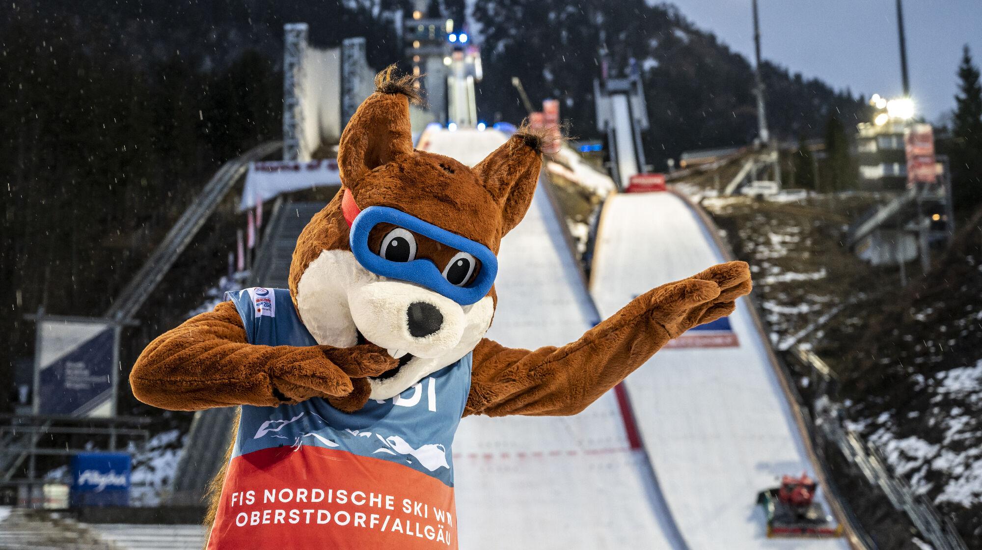 Nordi, das Maskottchen der Nordischen Ski-WM 2021