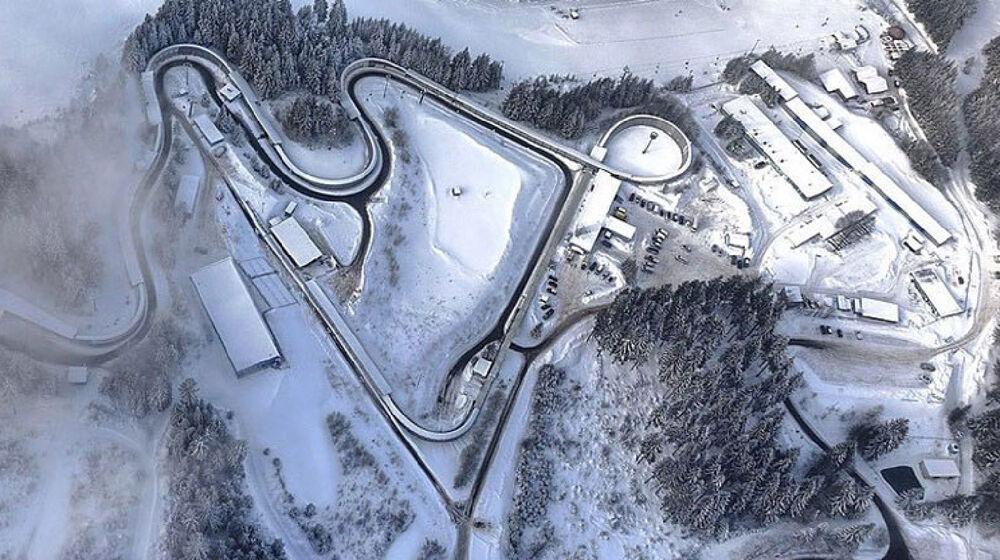 Die Rennschlitten- und Bobbahn Oberhof