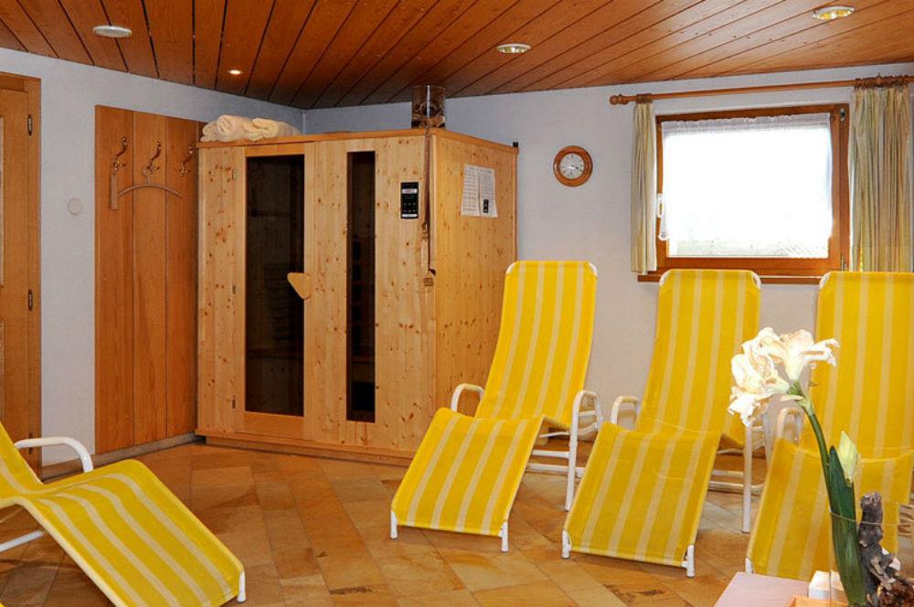 Der Wellnessbereich im Haus Alpina in Au