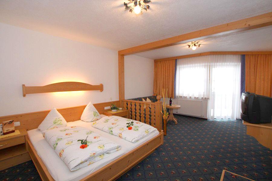 Ein Luxus Doppelzimmer im Hotel Thaneller