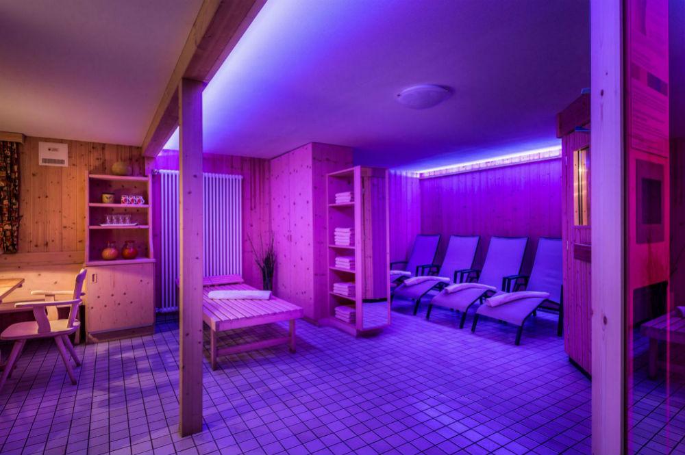 Der Wellnessbereich im Pralongia Berggasthof