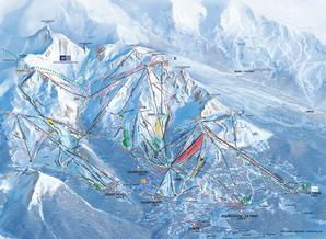 Pistenplan Courchevel