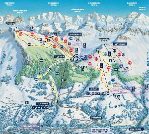 Pistenplan Adelboden Frutigen © Sitour Marketing GmbH