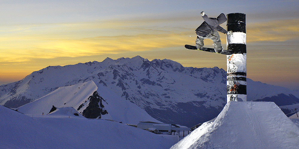 Freestyler in Les 2 Alpes