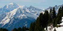 Sicht auf Mont Blanc vom Mountaintrain in Villars © Villars Tourism, Switzerland
