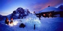 Iglu les Gouilles am Abend © Gstaad Saanenland Tourismus