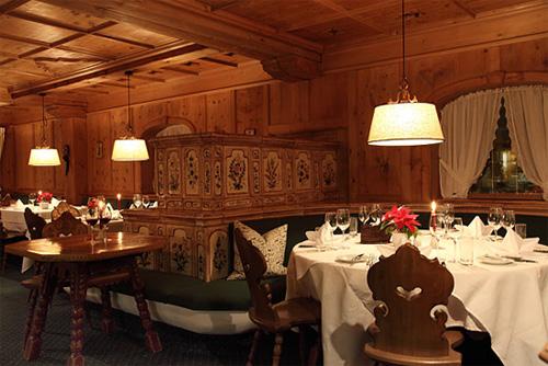 Das Restaurant 'Montafoner Stube' im Hotel Madrisa in Gargellen