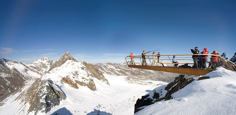 Aussichtsplattform Top of Tyrol am Stubaier Gletscher