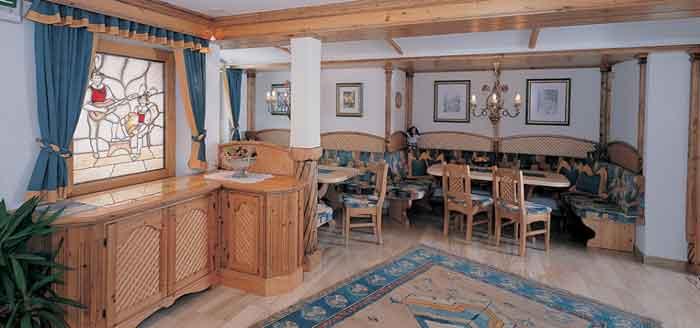 Das Restaurant in der Pension Rosengarten