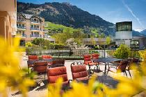 Terrasse des Kurparkhotels in Bad Hofgastein