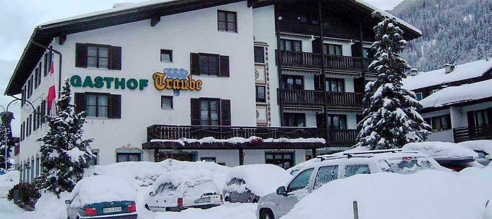 Blick auf das Hotel Traube in St. Gallenkirch-Gortiphol