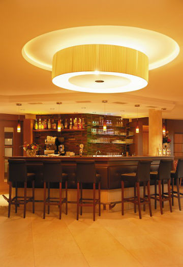 Die Hotelbar im Hotel Plunger in Kastelruth