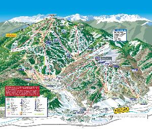 Pistenplan Beaver Creek © Vail Resorts Management Company