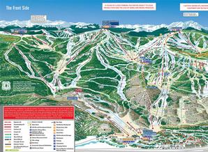 Pistenplan Vail Mountain