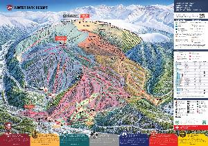 Pistenplan Winterpark Resort © Winter Park Resort