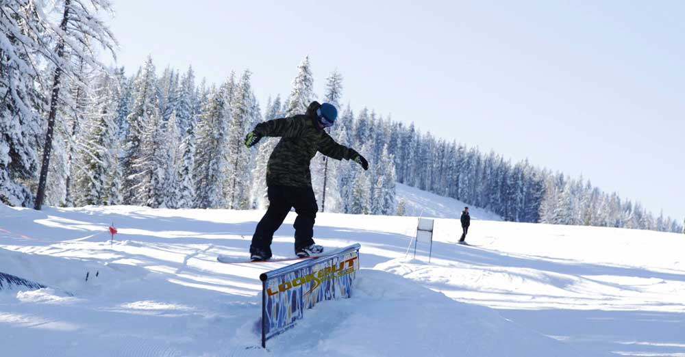Snowpark in Lookout Pass