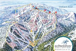 Pistenplan Outback Bowl © Schweitzer Mountain Resort