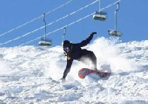 Snowboardabfahrt in China Peak © China Peak Mountain Resort