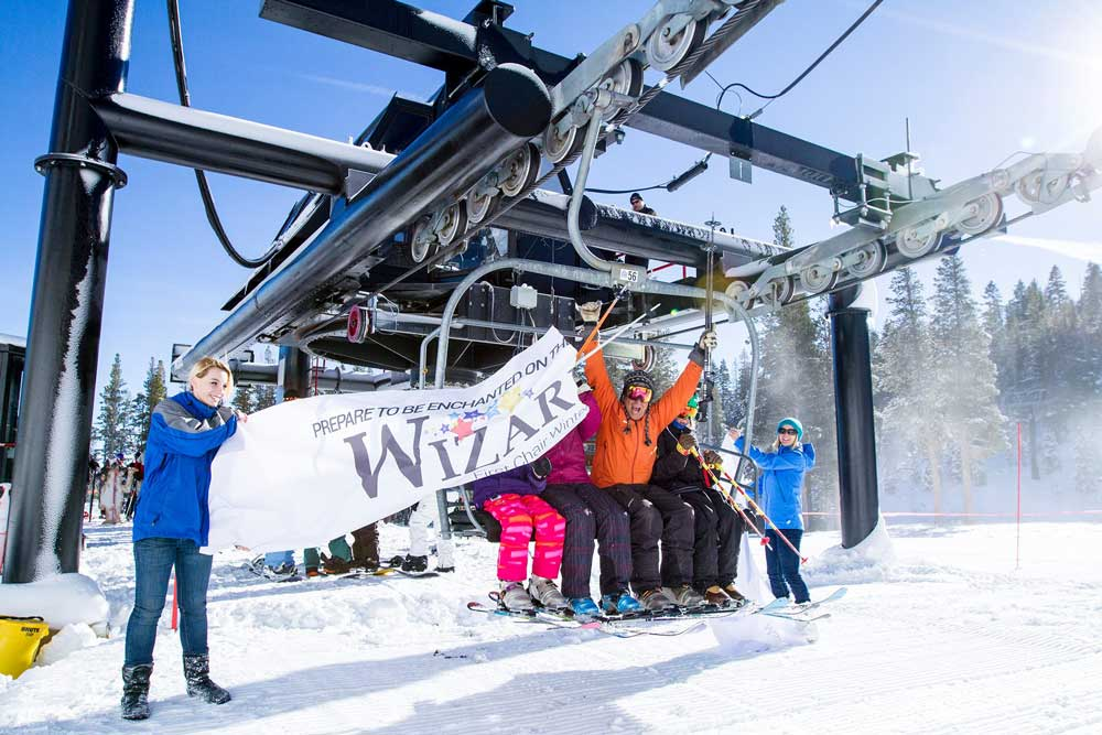 Einweihung des Lifts in Mt. Rose