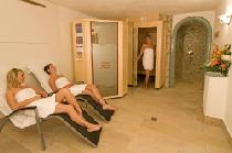 Der Wellnessbereich in der Pension am Rain