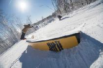 Snowboarder im Terrain Park © Seven Springs Mountain Resort