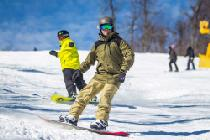 Snowboarder auf der Piste © Whitetail Resort