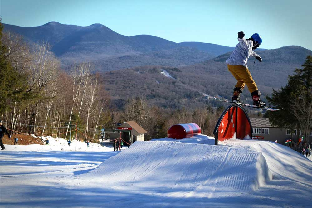 Snowboarder in Waterville Valley