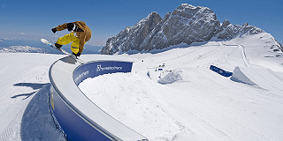 Freestylen im Superpark Dachstein