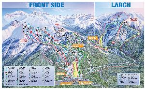Pistenplan Lake Louise Frontside © Lake Louise Ski Resort