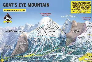 Pistenplan Goat's Eye © Sunshine Village