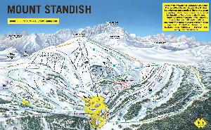 Pistenplan Mount Standish © Sunshine Village
