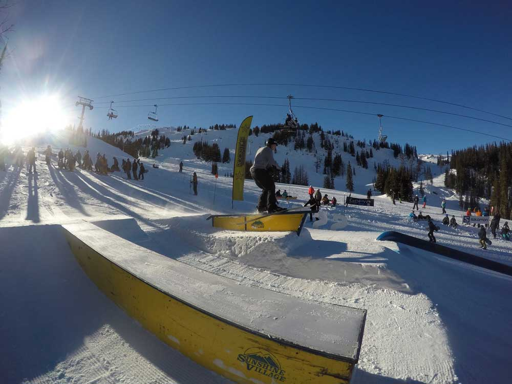 Der Terrain Park in Sunshine Village