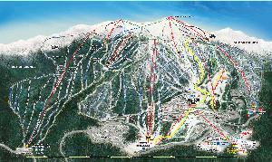 Pistenplan Big White © Big White Ski Resort