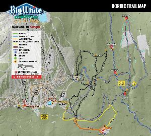 Loipenplan Big White © Big White Ski Resort
