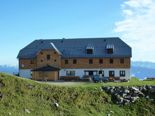 Blick auf die Krefelder Hütte