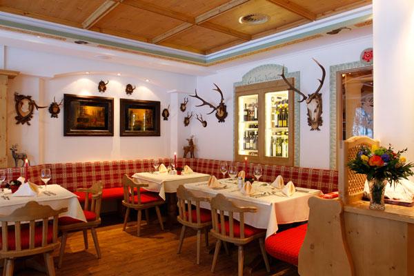 Das Restaurant im Hotel Restaurant Jägerhof in Gerlos