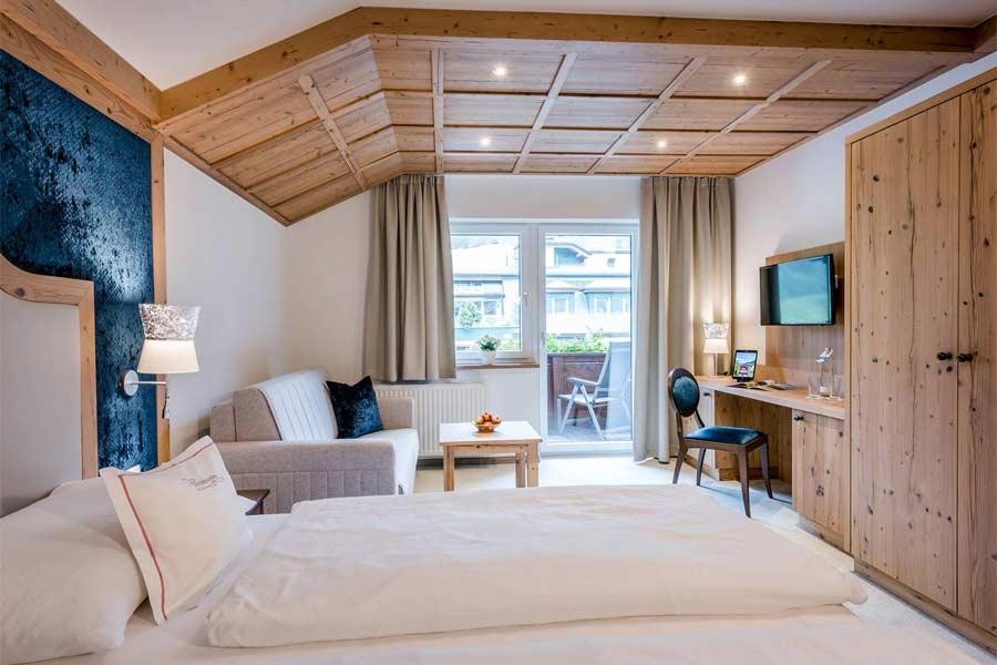 Doppelzimmer Edelweiss im Hotel Vierjahreszeiten in Tux