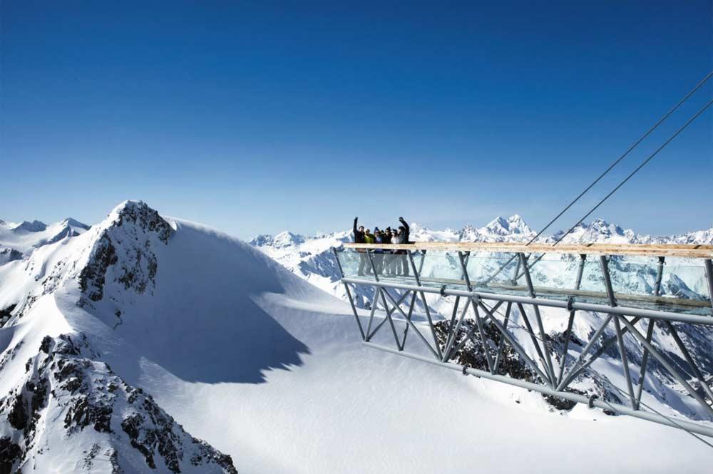 Freitragende Panoramaplattform am Tiefenbachkogl