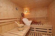 Private Sauna von einer Lodge in der AlpenParks Hagan Lodge