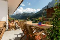 Die Terrasse in der Pension Alphorn