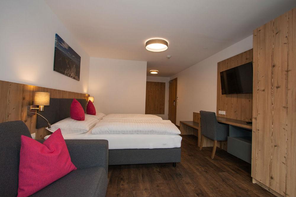 Ein Doppelzimmer im Haus Sattelblick